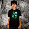 Minecraft Three Creeper Moon - Barn T-shirt