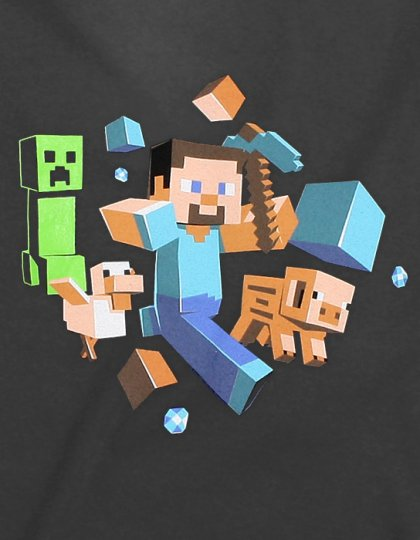 Minecraft Run Away! Glow in the Dark T-shirt
