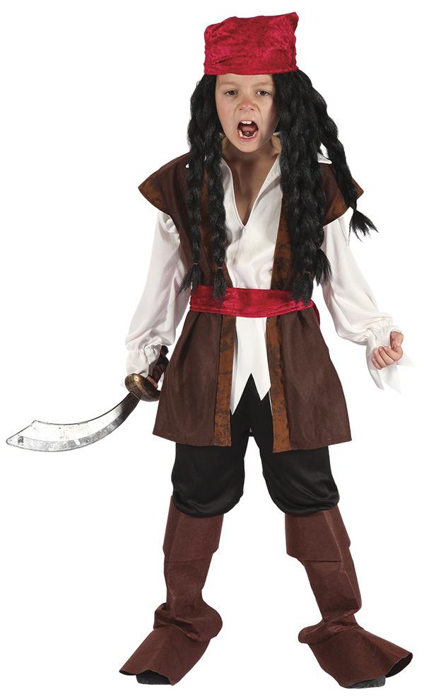 Maskeradkläder Barn - Karibisk Pirat Barn Maskeraddräkt