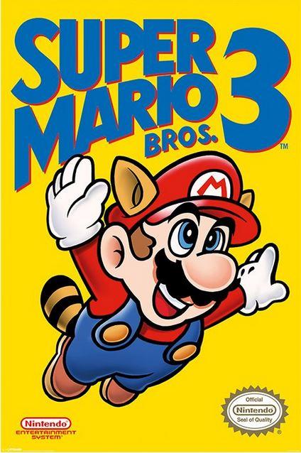 SUPER MARIO BROS. 3 (NES COVER) AFFISCH
