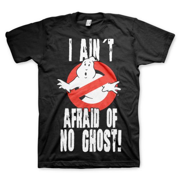 Ghostbusters I Ain't Afraid T-Shirt Svart