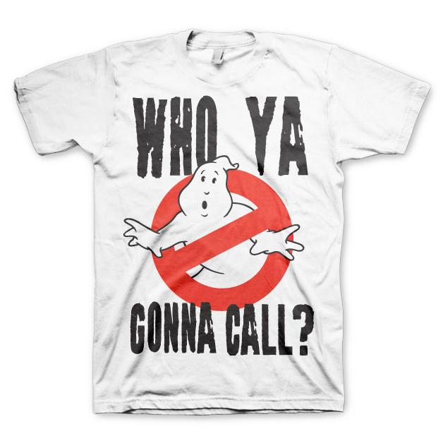 Ghostbusters Who Ya Gonna Call T-Shirt Vit