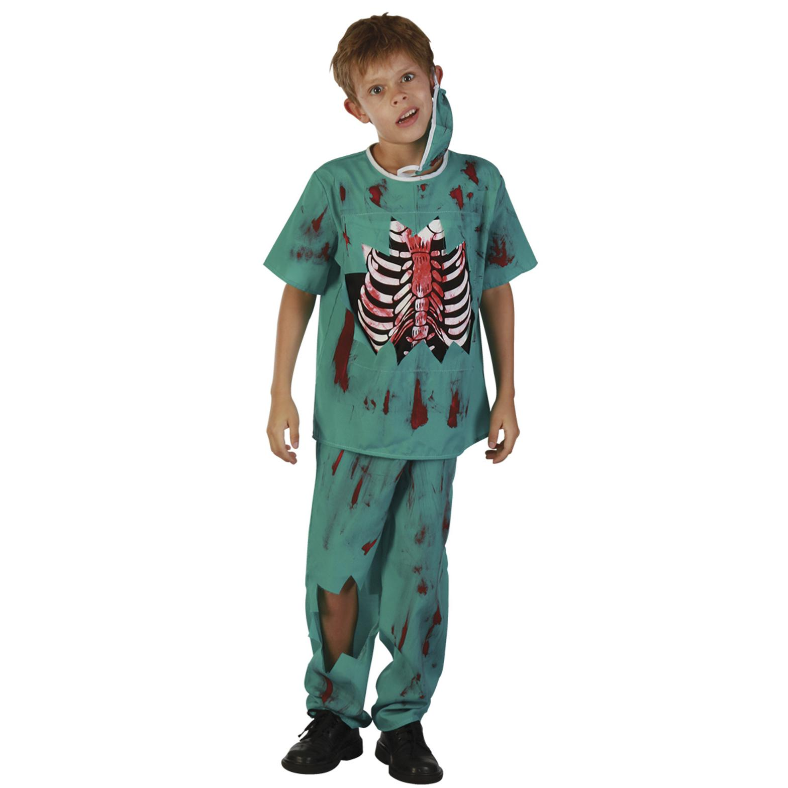 Zombie Doktor Maskeraddräkt Barn