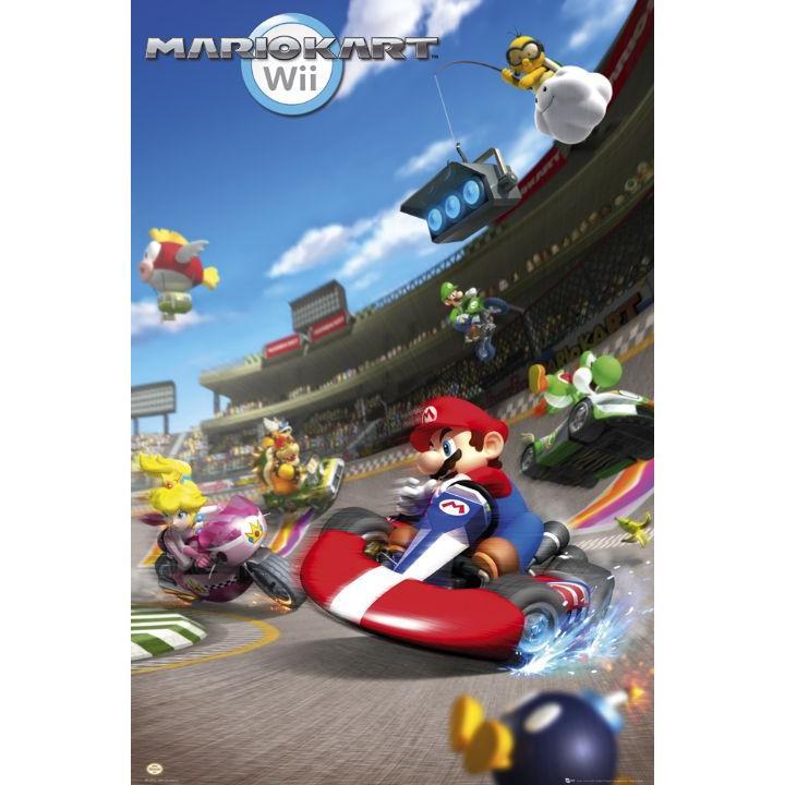 Nintendo - Mario Kart Wii Affisch