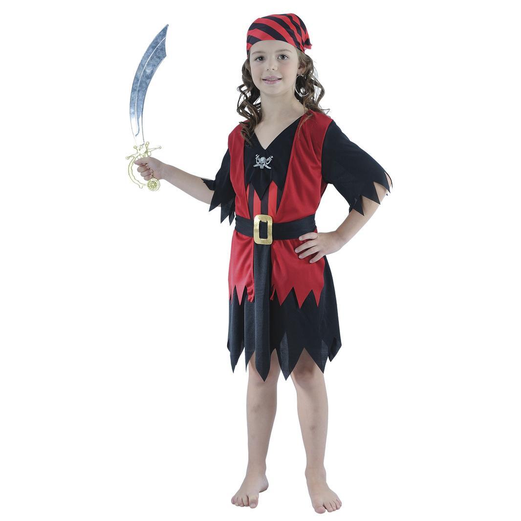Maskeradkläder Barn - Piratflicka Maskeraddräkt Barn