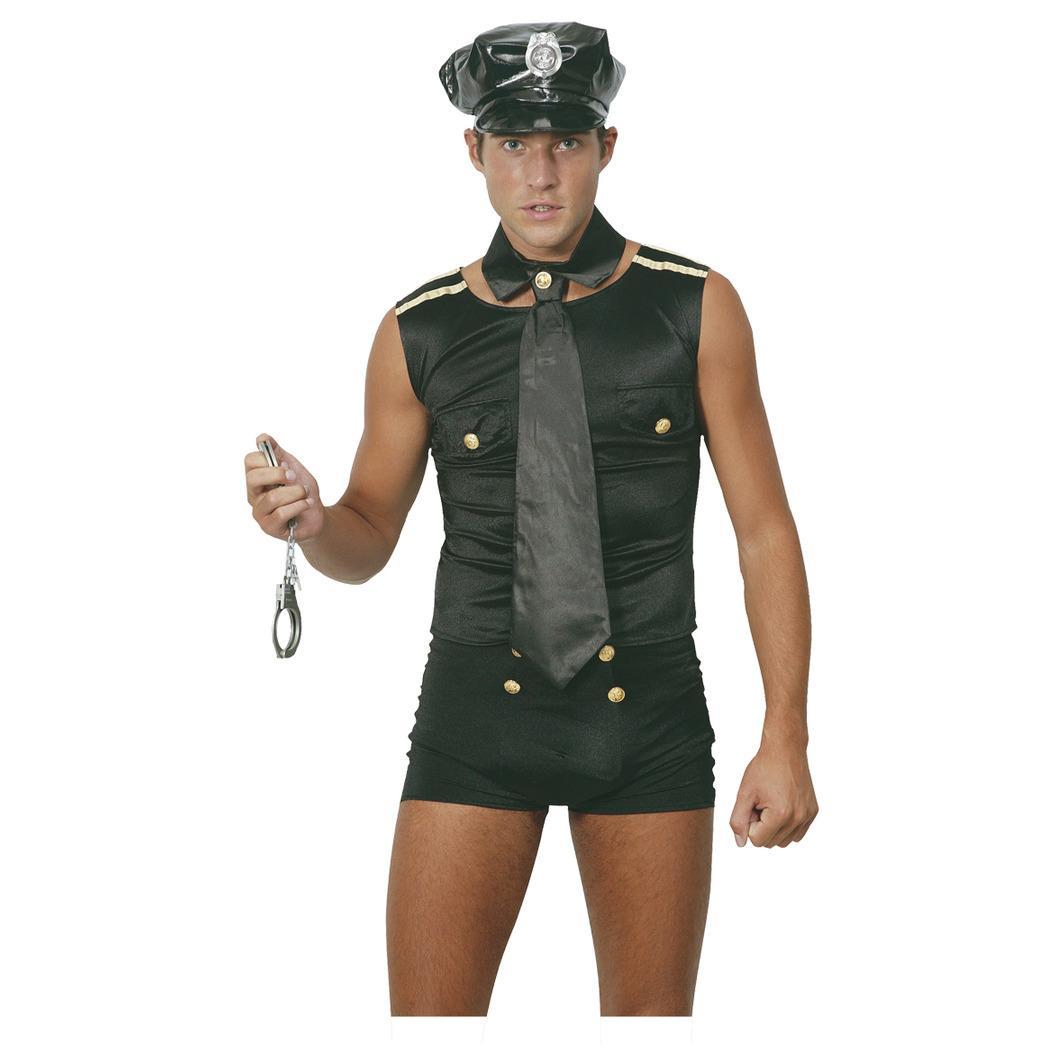 Sexig Polis Maskeraddräkt (Man)