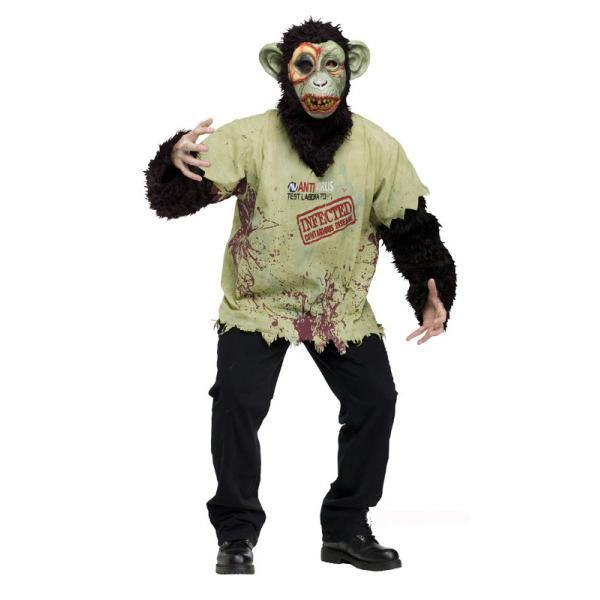 Zombie Apa Maskeraddräkt