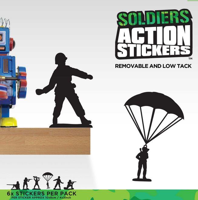 Action Klistermärken - Leksakssoldater