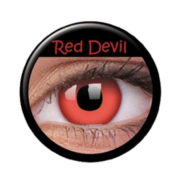 Färgade linser crazy red devil