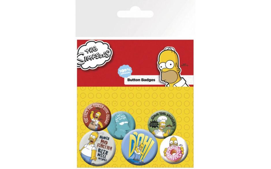 The simpsons knappar 6 pack homer roliga prylar - Homer simpson nu ...