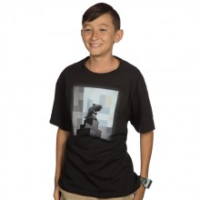 Minecraft One Wolf Moon Barn T-shirt