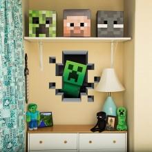 Minecraft Creeper In Wall Väggdekal