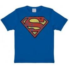 Stålmannen Logo T-Shirt Barn Blå