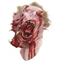 Zombie Delat Huvud Mask Deluxe