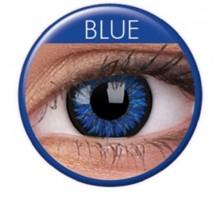 Färgade linser glamour blå