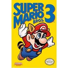 SUPER MARIO BROS. 3 (NES COVER) AFFISCH