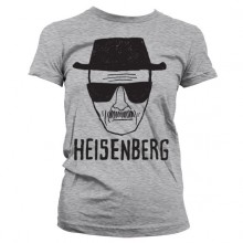 Breaking Bad Heisenberg Sketch Girly T-Shirt Grå