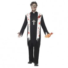 Zombie Präst Maskeraddräkt