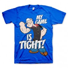 Popeye - Game Is Tight T-Shirt Blå