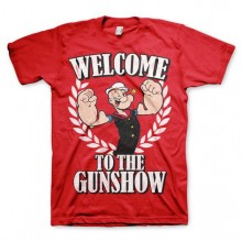 Popeye - Welcome To The Gunshow T-Shirt Röd