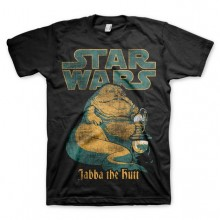 Star Wars Jabba The Hutt T-Shirt Svart