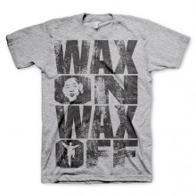 Wax On Wax Off T-Shirt Grå