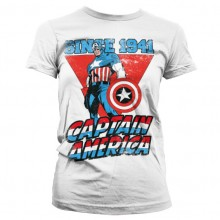 Captain America Since 1941 Girly T-Shirt Vit