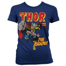 The Mighty Thor - For Asgard! Girly T-Shirt Blå
