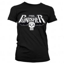 The Punisher Logo Girly T-Shirt Svart