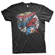 Distressed Spider-Man T-Shirt Svart