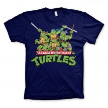 TMNT - Distressed Group T-Shirt Mörkblå