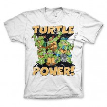 TMNT - Turtle Power! T-Shirt Vit