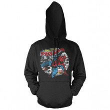 Distressed Spider-Man Hoodie Svart