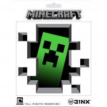 Minecraft Creeper Inside Klistermärke