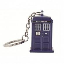 Doctor Who Tardis Ficklampa Nyckelring