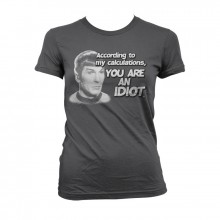 Star Trek - According To My Calculations Girly T-Shirt