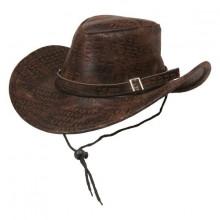 Cowboyhatt Brun Ormskinn