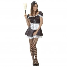 French Maid Maskeraddräkt