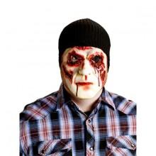Zombiemask med blodiga ögon