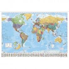 Världskarta - Affisch