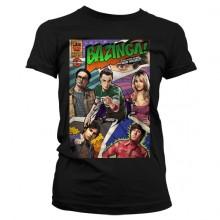 Big Bang Theory - Bazinga Comic Cover Dam T-Shirt