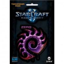 Starcraft II Zerg Klistermärke 2-pack
