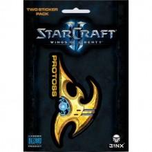Starcraft II Protoss Klistermärke 2-pack