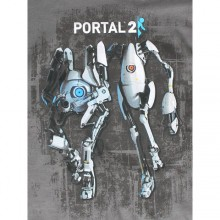 Portal 2 Atlas And P-Body T-shirt Mörkgrå