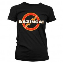 Big Bang Bazinga Underground Logo Girly T-Shirt