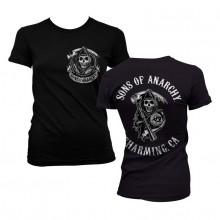 Sons Of Anarchy SOA Full CA Backprint Girly T-Shirt