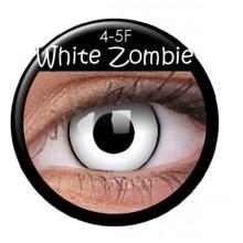 Färgade linser crazy zombie-vit