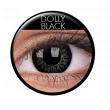 Färgade linser big eyes dolly black