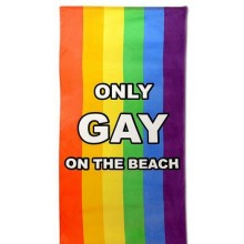 Only Gay On The Beach Handduk