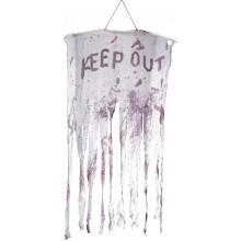 Keep Out Blodig Hängande Dekoration